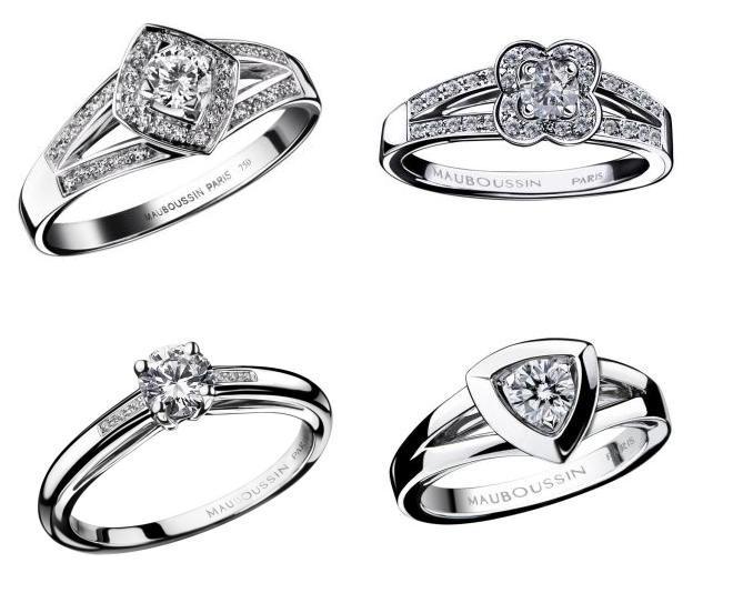 et modèles bague de mariage pour femme mauboussin, anneaux de mariage ...