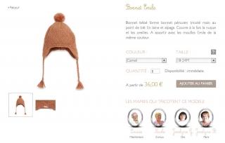 bonnet-chapeau-bebe-enfant-camel-marron-laine-alpaga-tricote-main-point-ble-