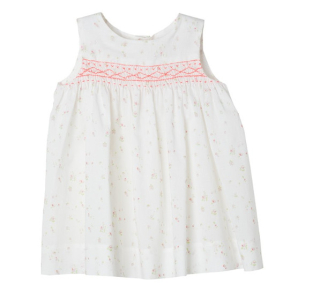 BONPOINT - Robe Clothi  fleurs rose 1