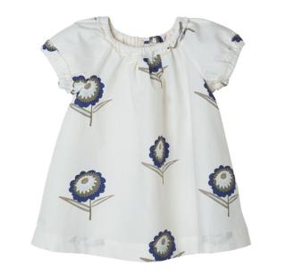 BONPOINT - Robe Soline fleurs écru 1
