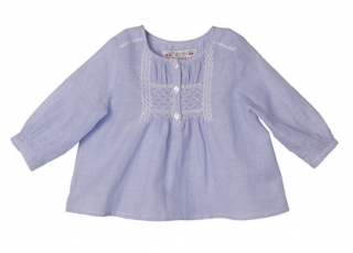bonpoint blouse sally bleu