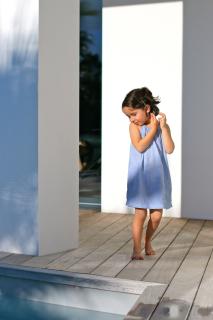 robe bleu arsene et les pipelettes