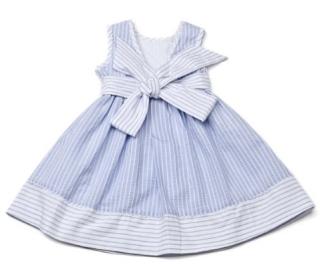 N&N - robe rayée bleu et blanc 2