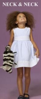 N&N - robe rayée bleu et blanc 3