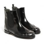 boots-cuir-elastique-bout-fleuri-noir