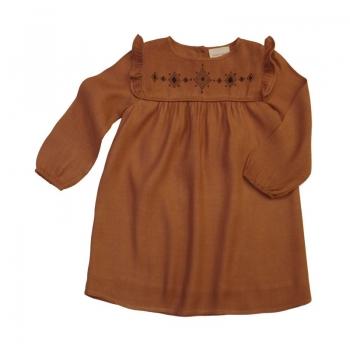 robe-monica-twill-cognac