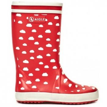 bottes-de-pluie-nuages-lolly-pop-print-rouge