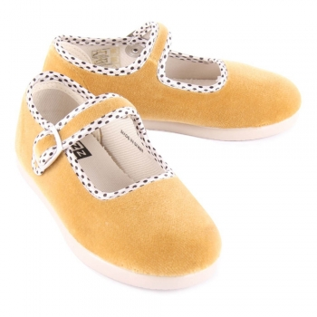 chaussons-bride-velours-jaune