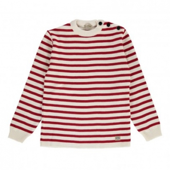 pull-marin-raye-fouesnant-rouge
